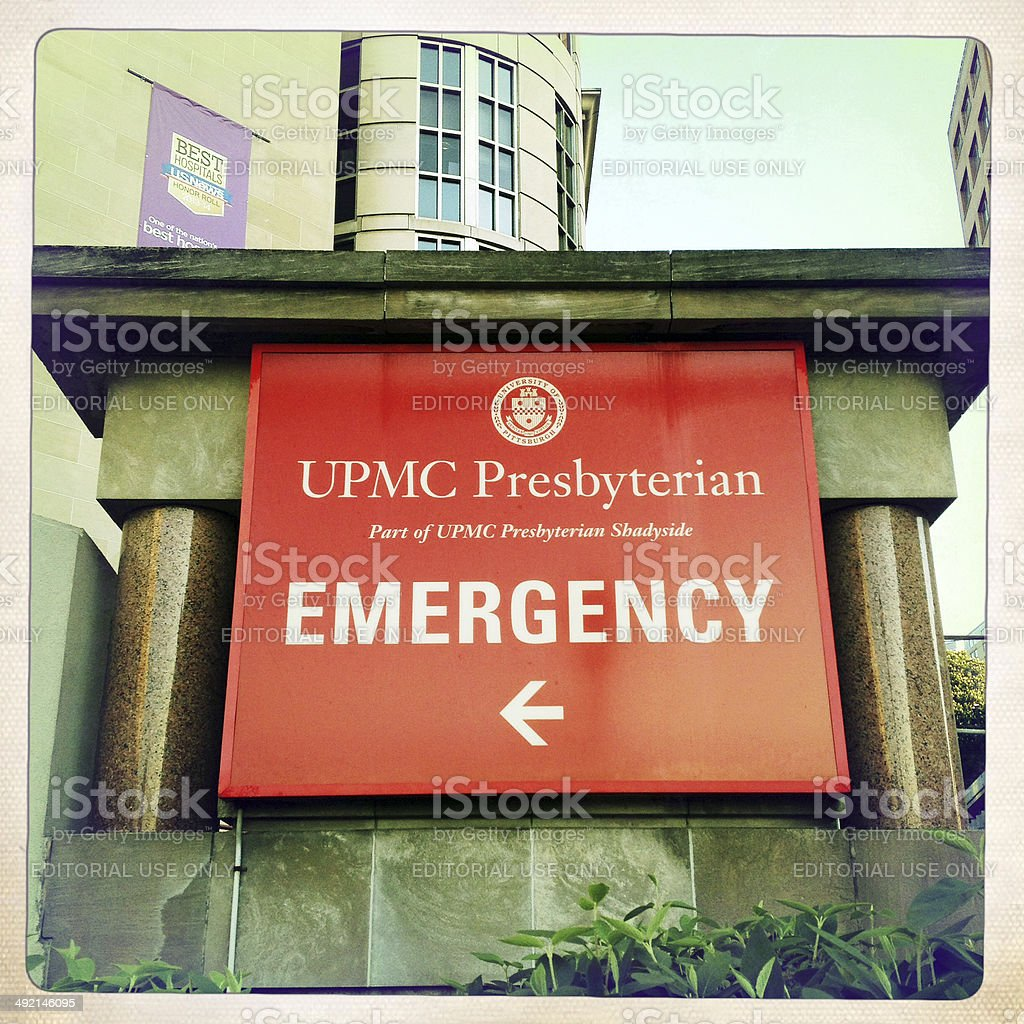 Upmc Presbyterian Hospital Emergency Room Stock Photo