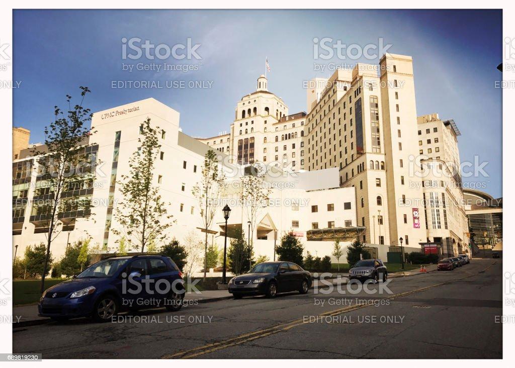UPMC Presbyterian Hospital in Pittsburgh stock photo