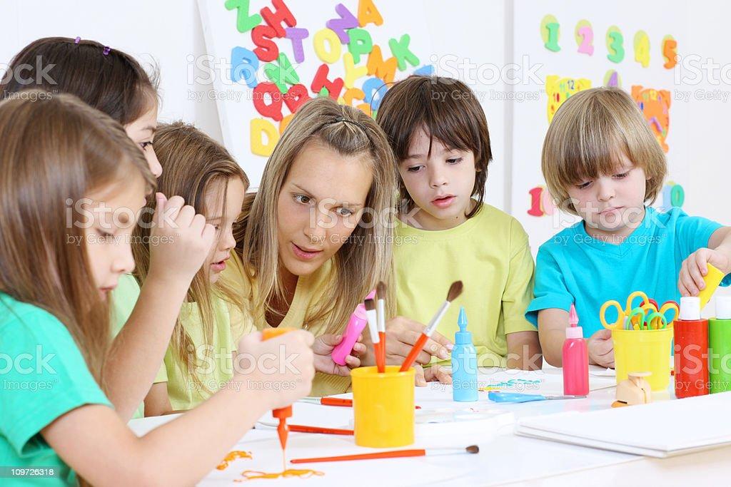 Preschool activity royalty-free stock photo