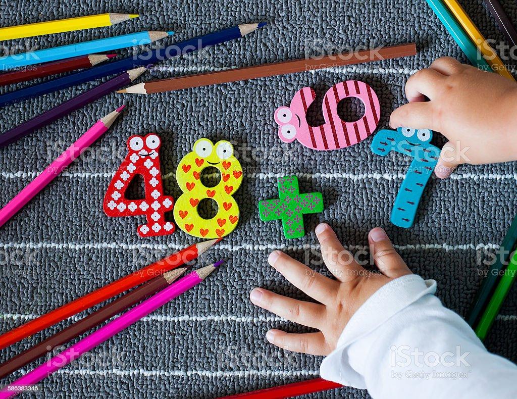 Preschool and kindergarten background. stock photo