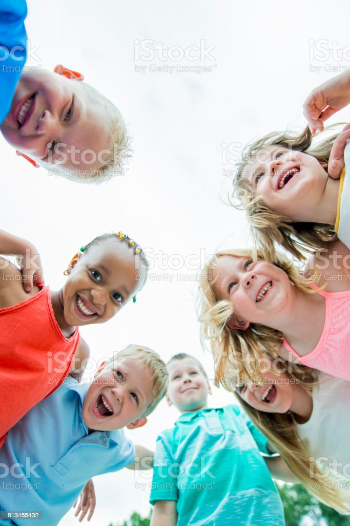 Preschool Children in a Group stock photo