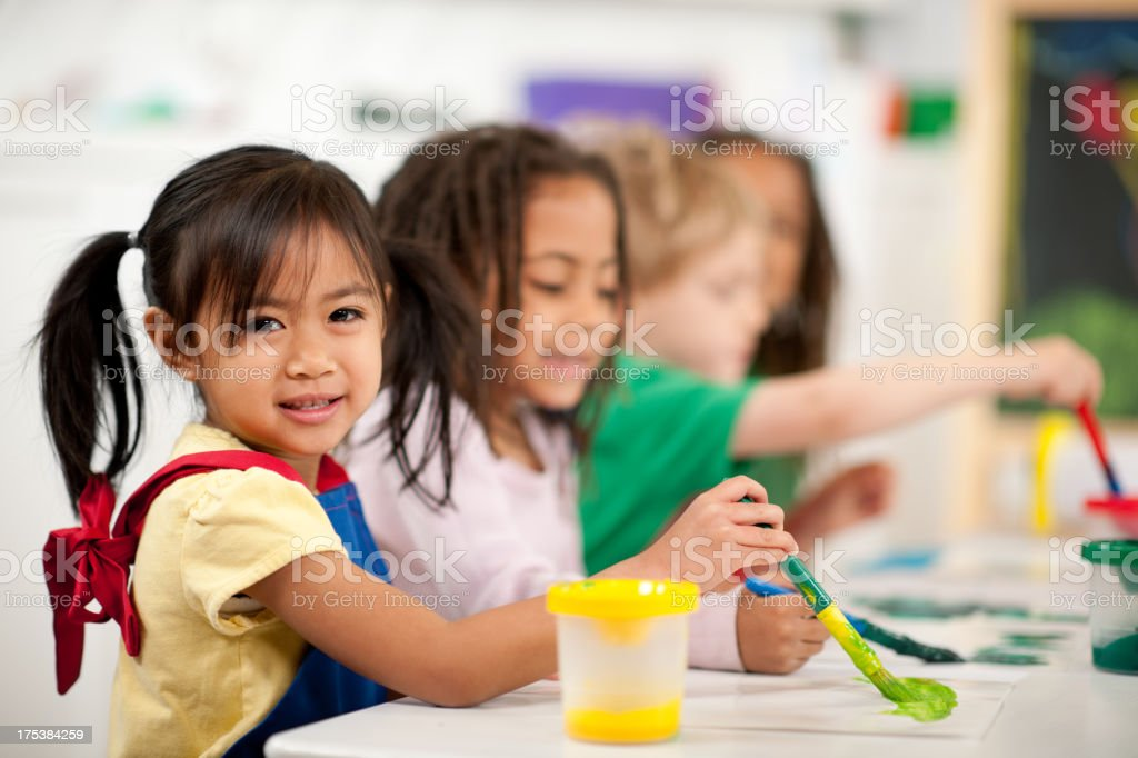 Preschool children royalty-free stock photo