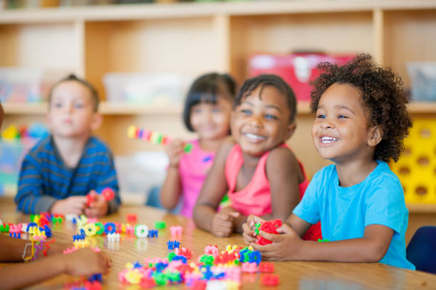 Preschool A diverse group of preschoolers in a classroom preschool age stock pictures, royalty-free photos & images