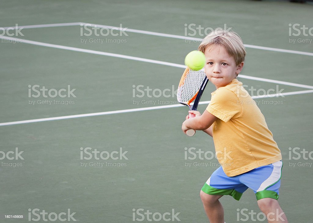 Pre-school Tennis Player royalty-free stock photo