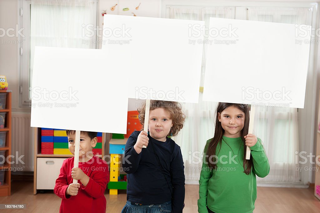 Preschoolers and Blank royalty-free stock photo