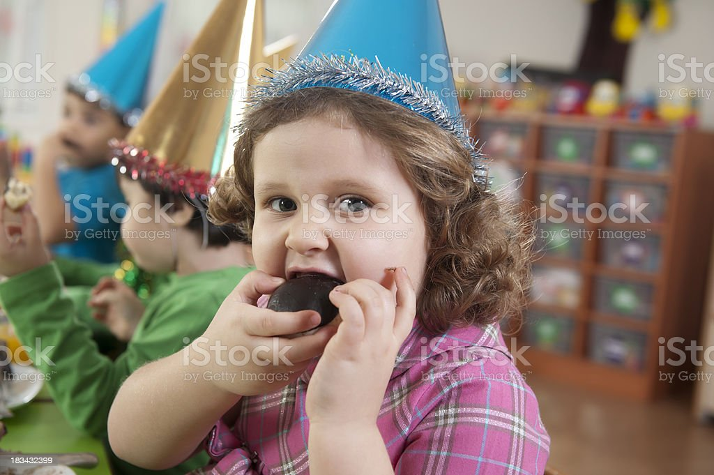 Preschoolers and Cake royalty-free stock photo