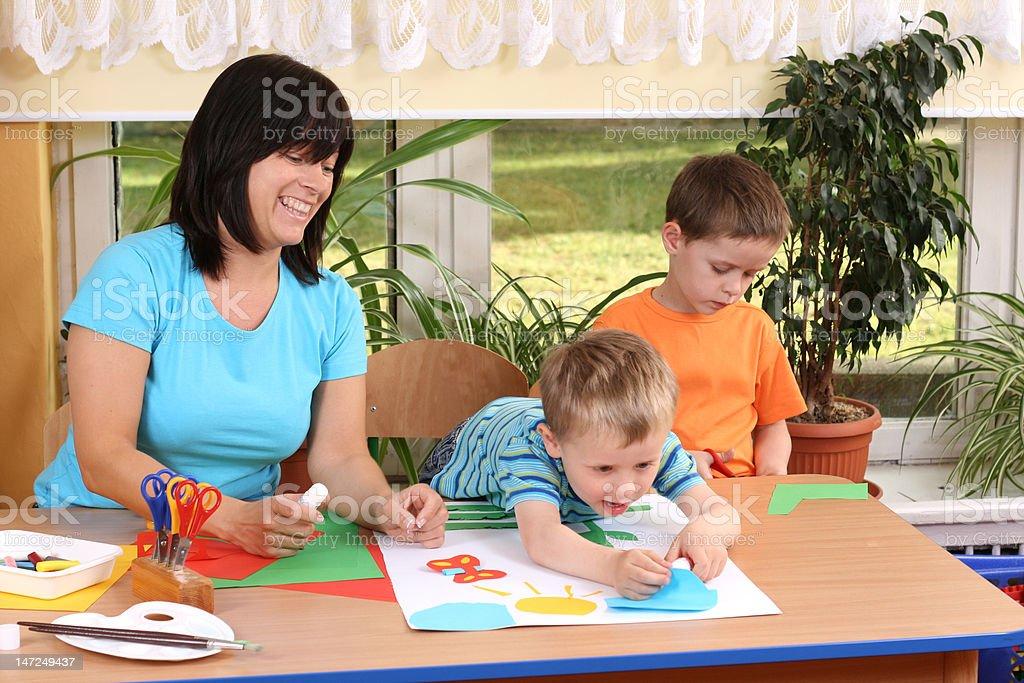 preschoolers and manual skills royalty-free stock photo