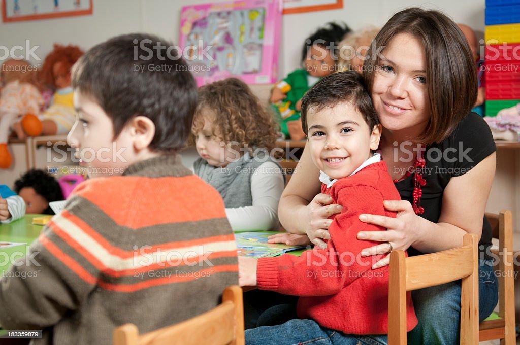 Preschoolers and Teacher royalty-free stock photo