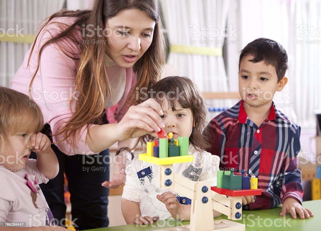 Preschoolers and Teacher - Royalty-free 4-5 Years Stock Photo