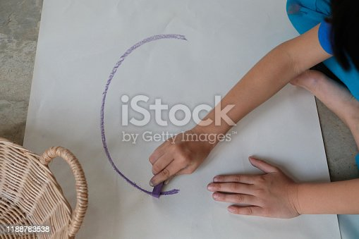 623300522 istock photo Preschoolers are practicing coloring on white paper. 1188783538