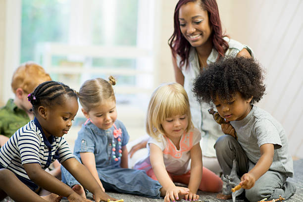 Preschoolers Playing Together stock photo
