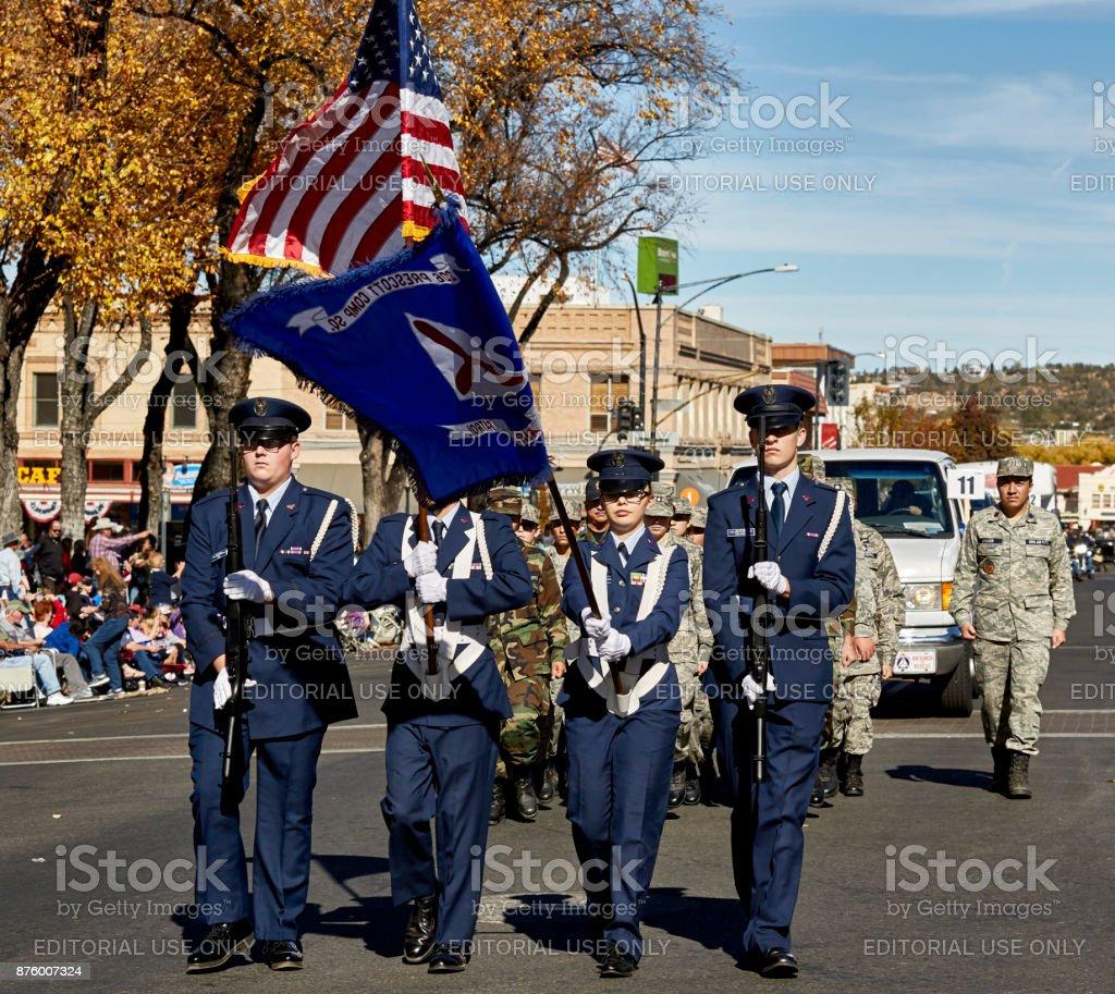 Prescott Air Patrol in Veterans Day Parade stock photo
