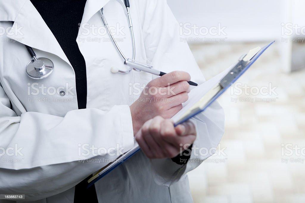 Prescribing treatment royalty-free stock photo