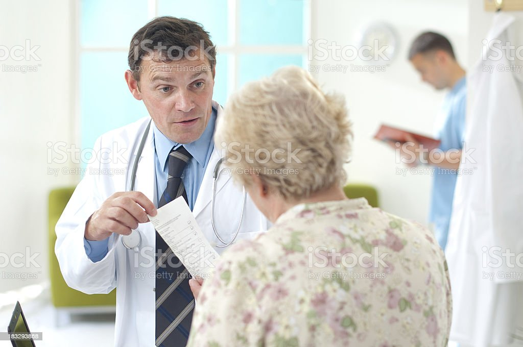prescription advice royalty-free stock photo