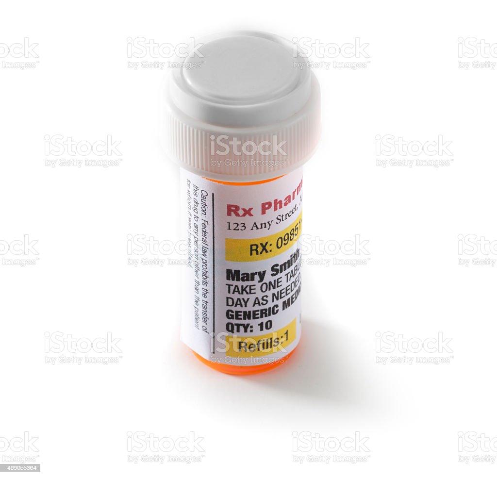 Prescription Bottle stock photo