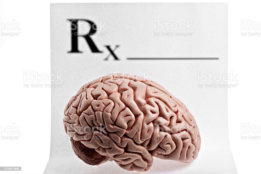 Prescription Brain royalty-free stock photo
