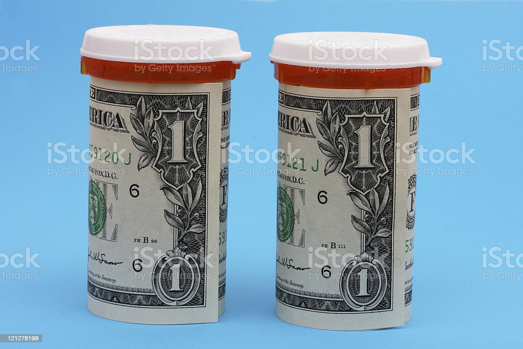 Prescription Costs stock photo