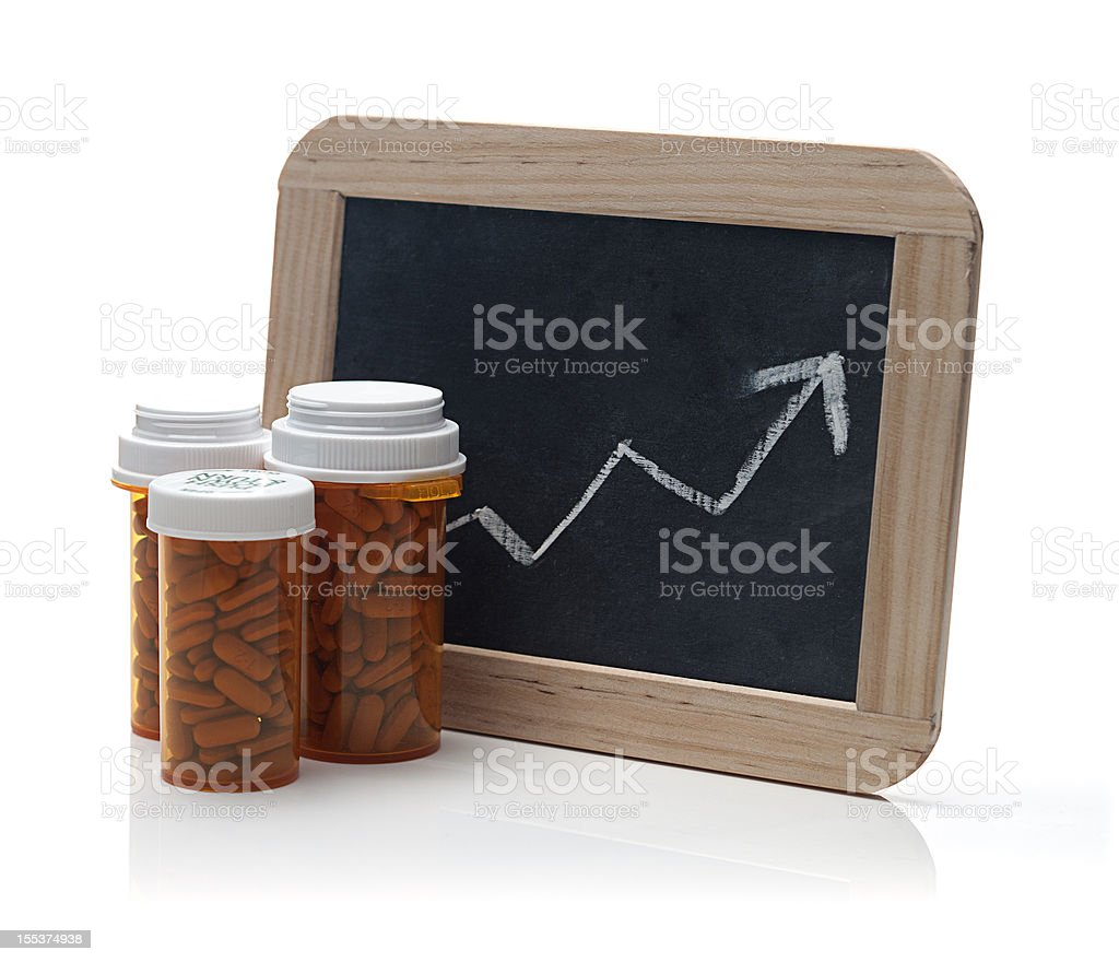 Prescription Costs royalty-free stock photo