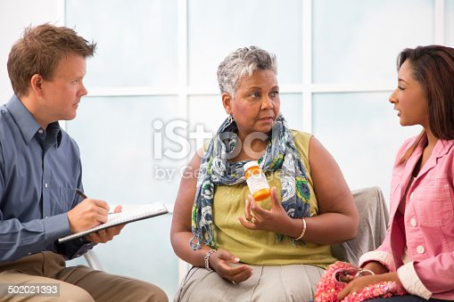 istock Prescription drug abuse. Counseling session. Mother, daughter. 502021393