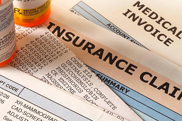 prescription medication and insurance - snavel stockfoto's en -beelden