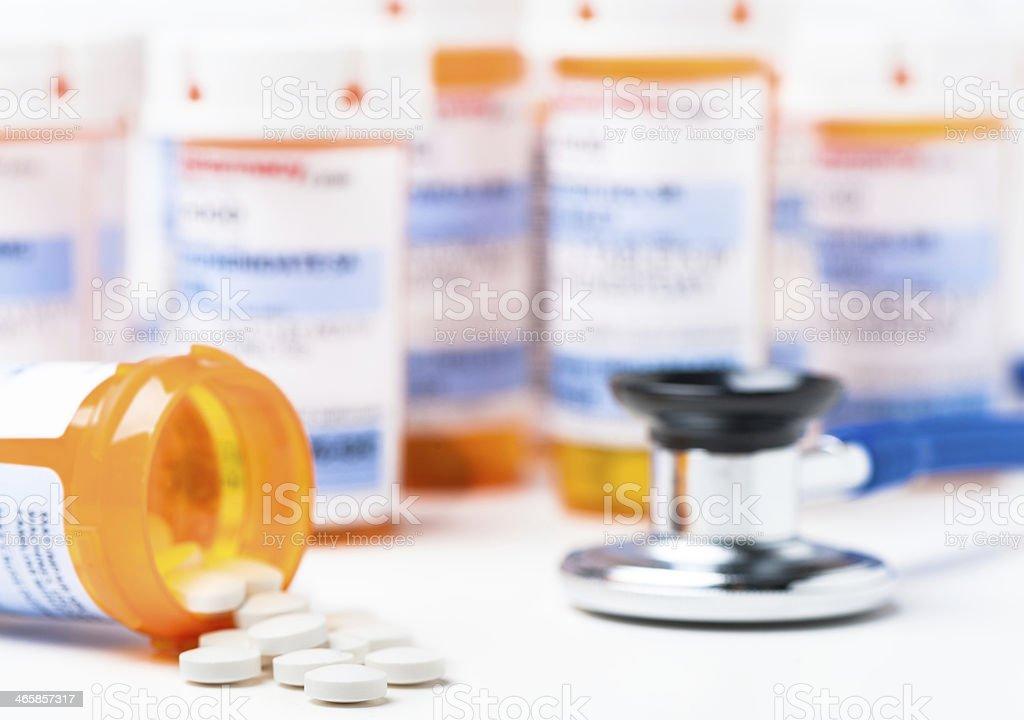 Prescription Medication Medicine Pill Tablets stock photo