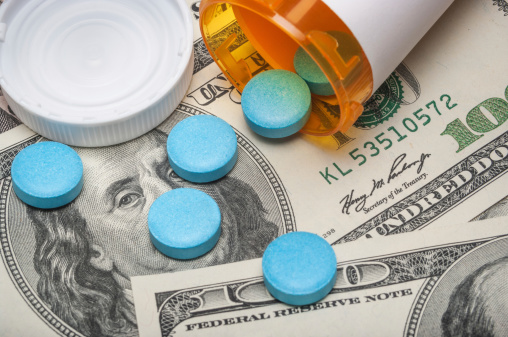 Prescription Medicine And Money Stock Photo - Download Image Now