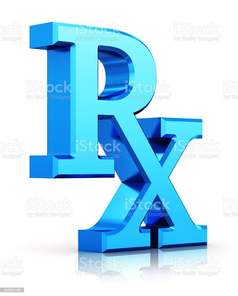 RX prescription medicine symbol stock photo
