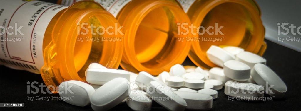 Prescription Pills and Bottle stock photo