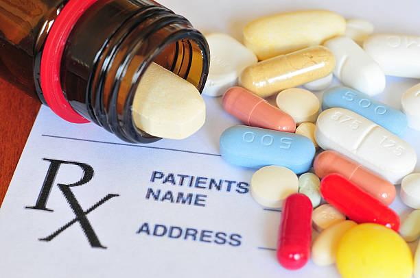 Prescription pills stock photo