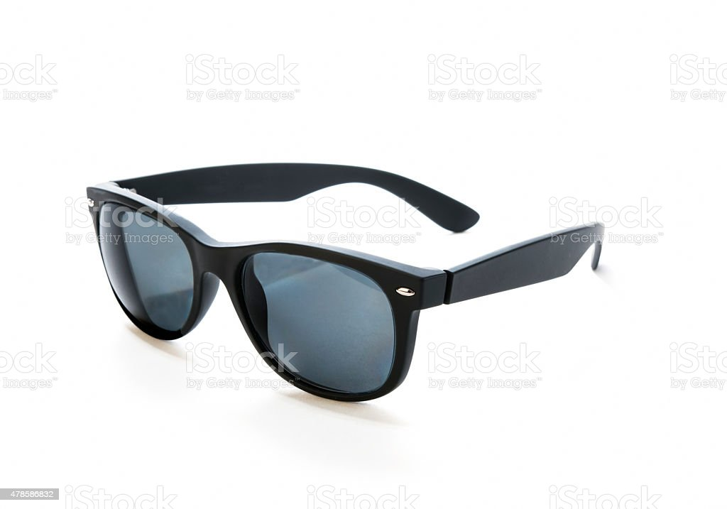 Prescription sunglasses with black, rubber frames stock photo