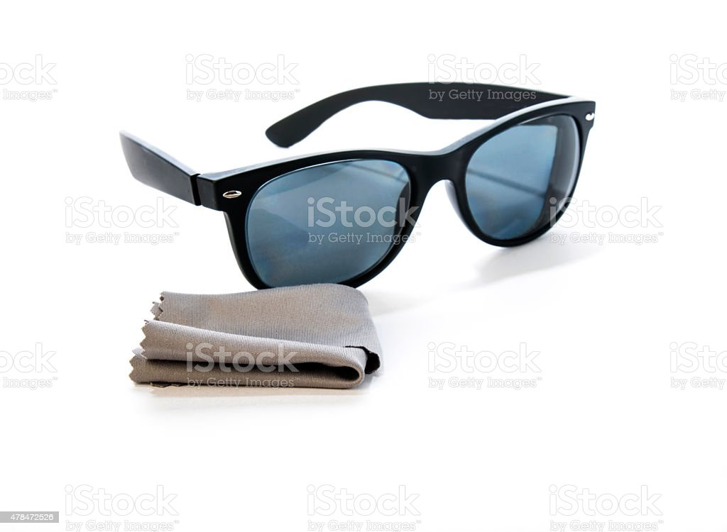 Prescription Sunglasses with Cleaning Cloth stock photo