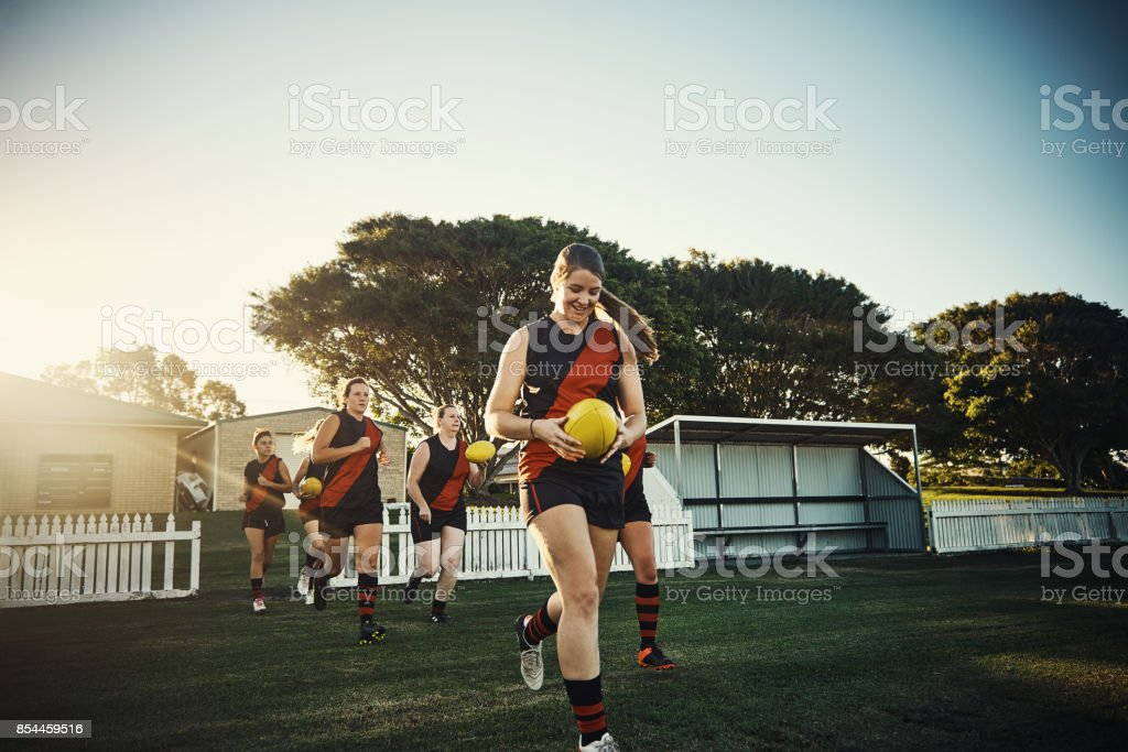 Pre-season practice stock photo