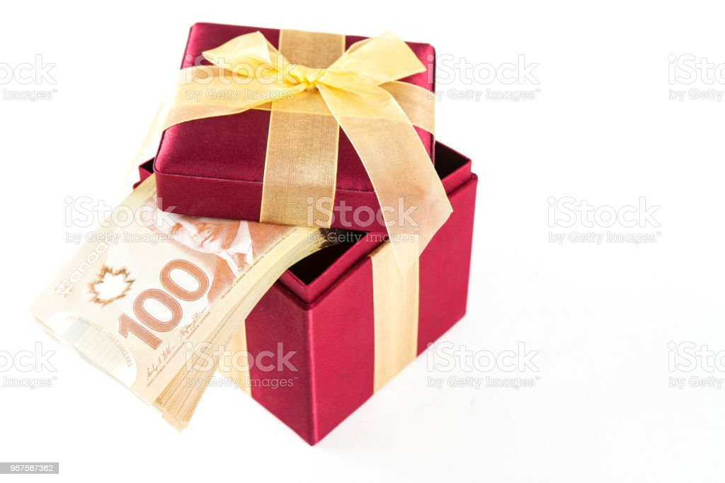 Present And Money Canada Stock Photo More Pictures Of Birthday