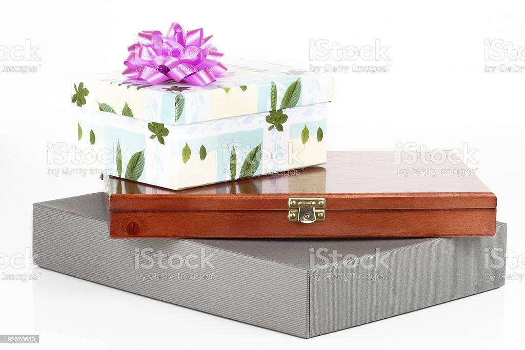 Present boxes royalty-free stock photo