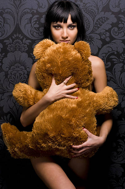 present for the valentine's day - naked women with animals stock photos and pictures