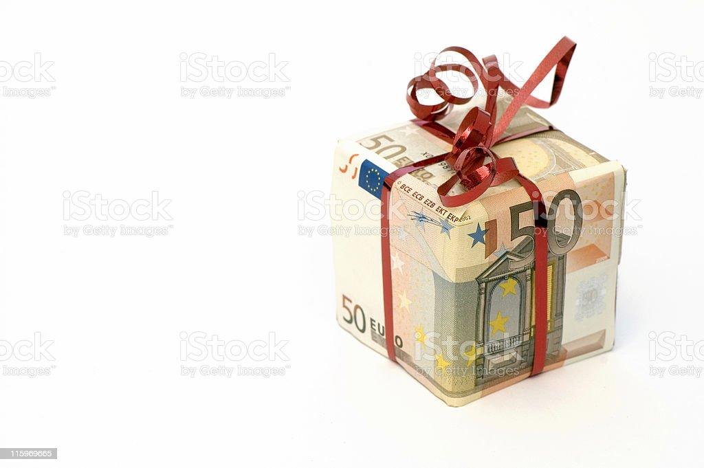 Present in Euro stock photo