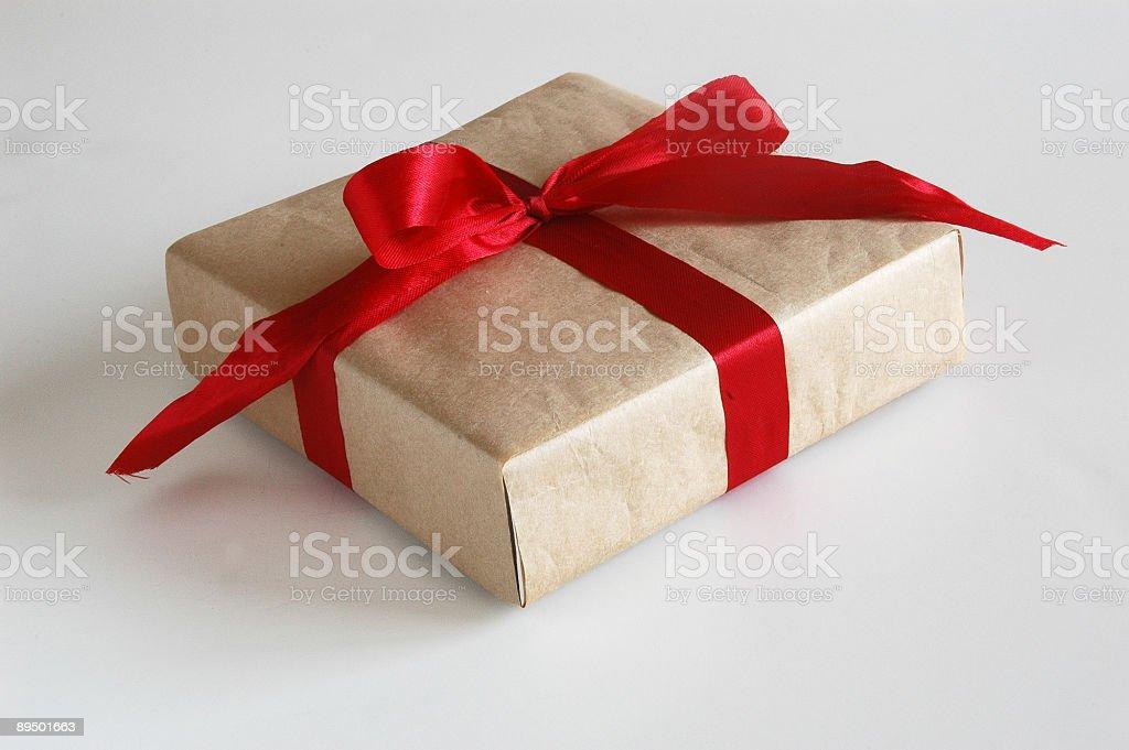 present in red bow royaltyfri bildbanksbilder