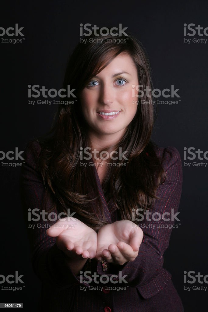 I present it to you royalty-free stock photo