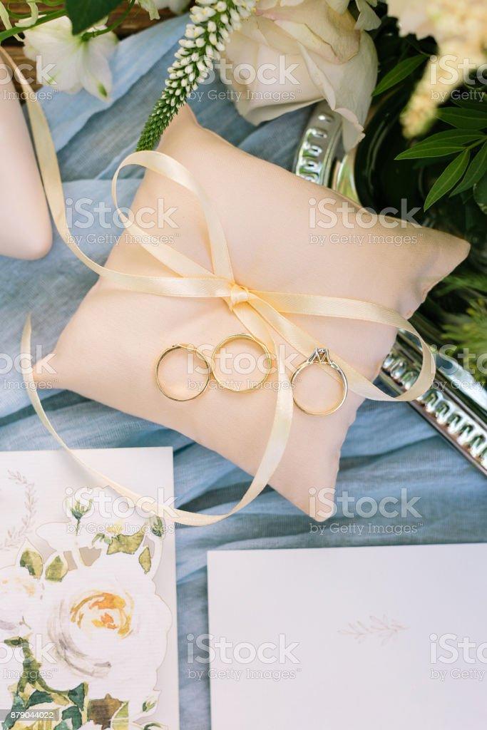 Vorhanden überraschung Hochzeit Konzept Schöne Draufsicht
