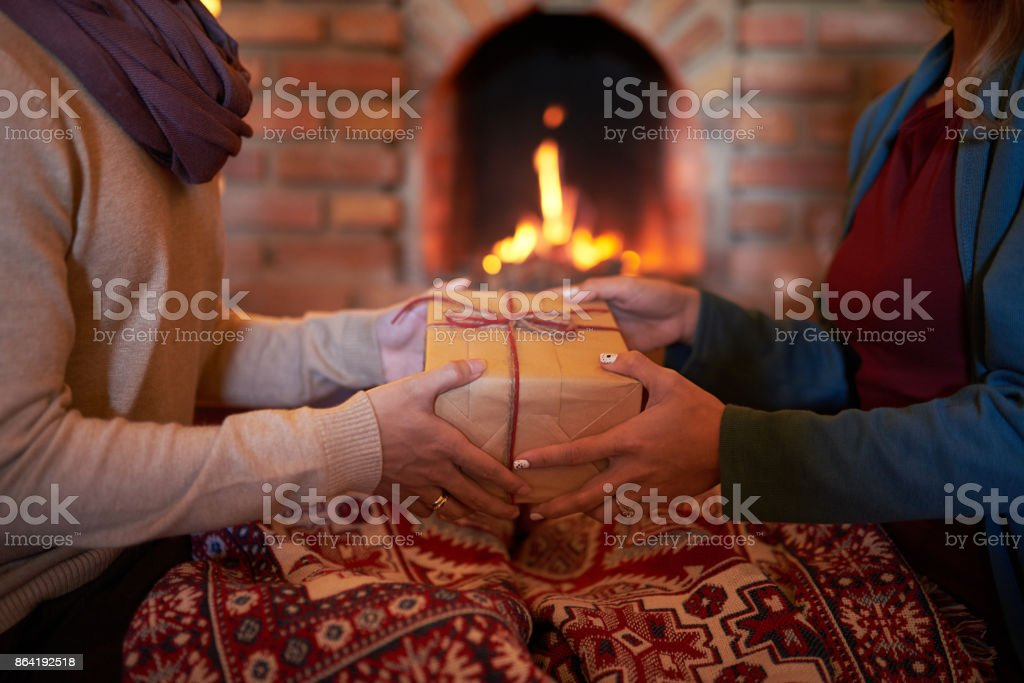 Present to husband royalty-free stock photo