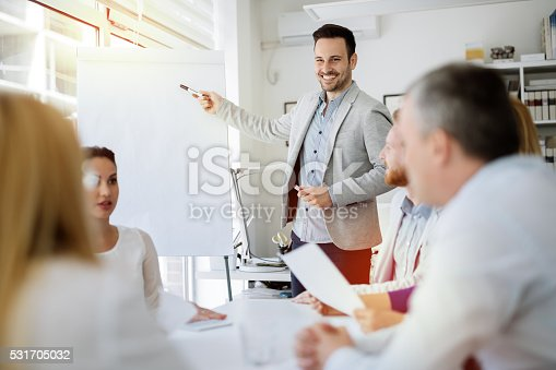 istock Presentation and collaboration by business people 531705032