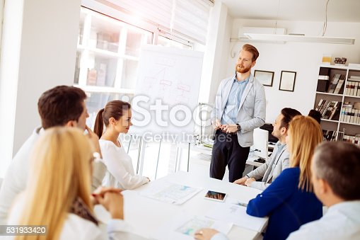 istock Presentation and collaboration by business people 531933420