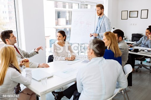 istock Presentation and collaboration by business people 531934742