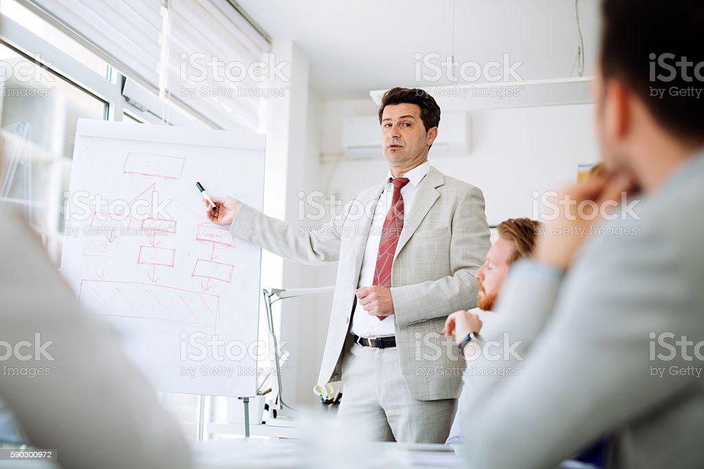 Презентации и обучения в бизнес-офис Стоковые фото Стоковая фотография