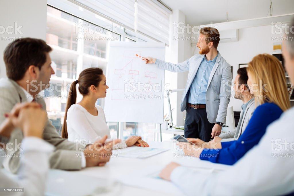 Präsentationen und Schulungen im business-Büro – Foto