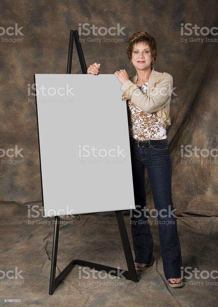 Presentation board royalty-free stock photo