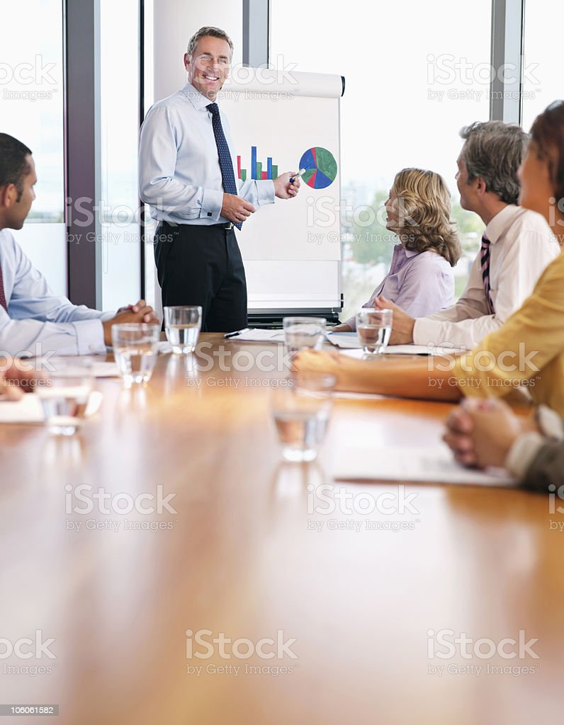 Presentation in a conference room royalty-free stock photo