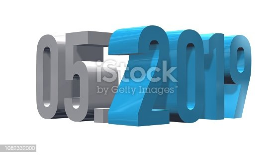 1019268352 istock photo Presentation month 05 of the year 2019 1082332000