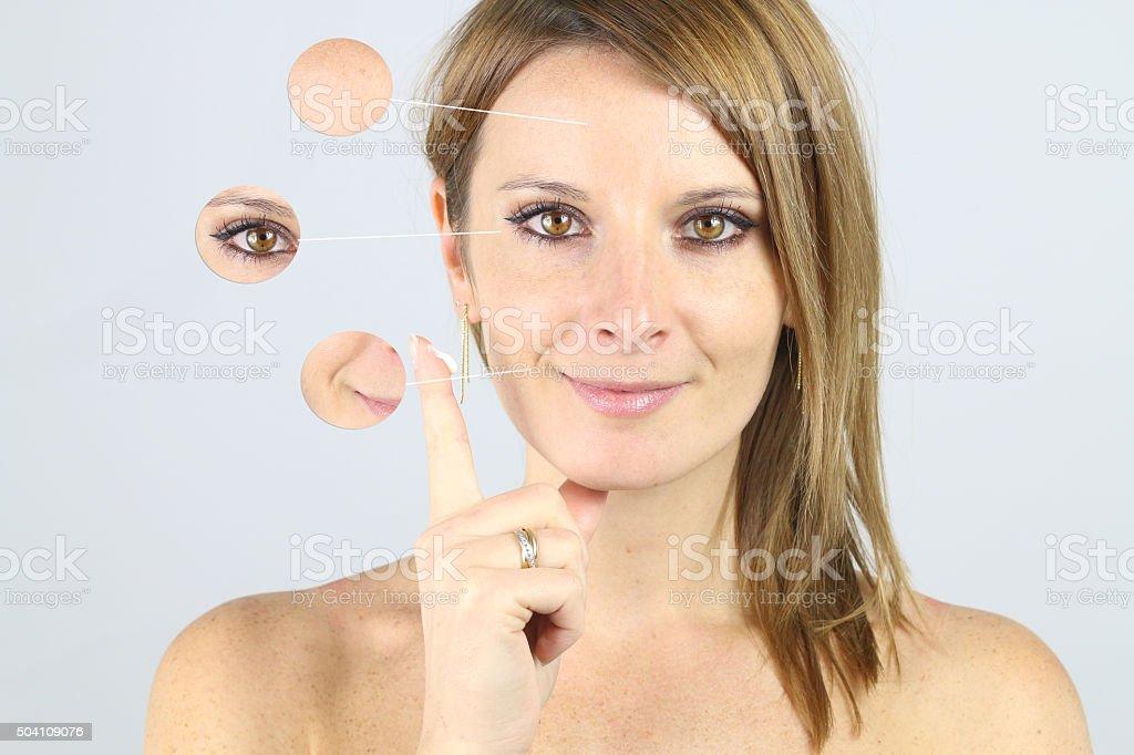 presentation of an anti wrinkle cream stock photo