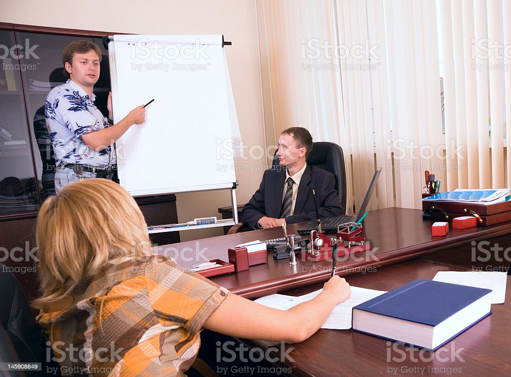 Presentation of business royalty-free stock photo